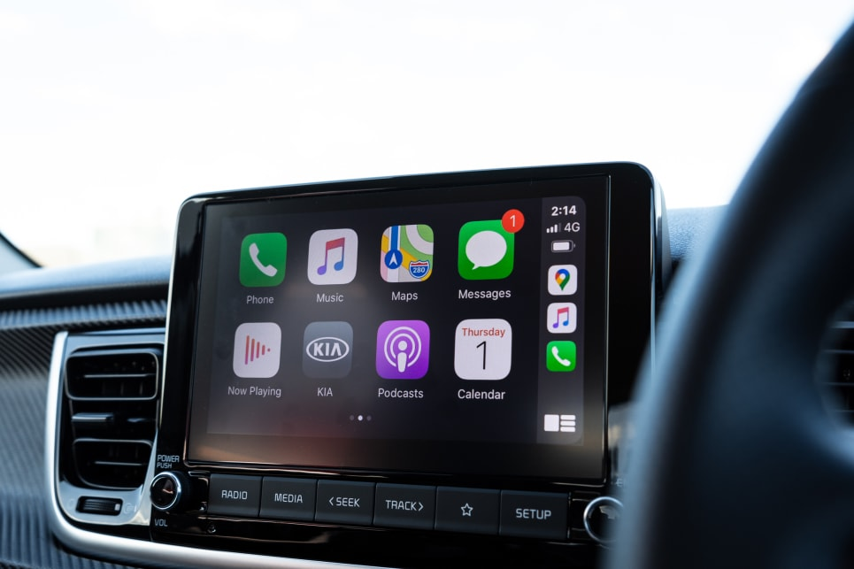 There's an 8.0-inch multimedia touchscreen with Apple CarPlay and Android Auto.