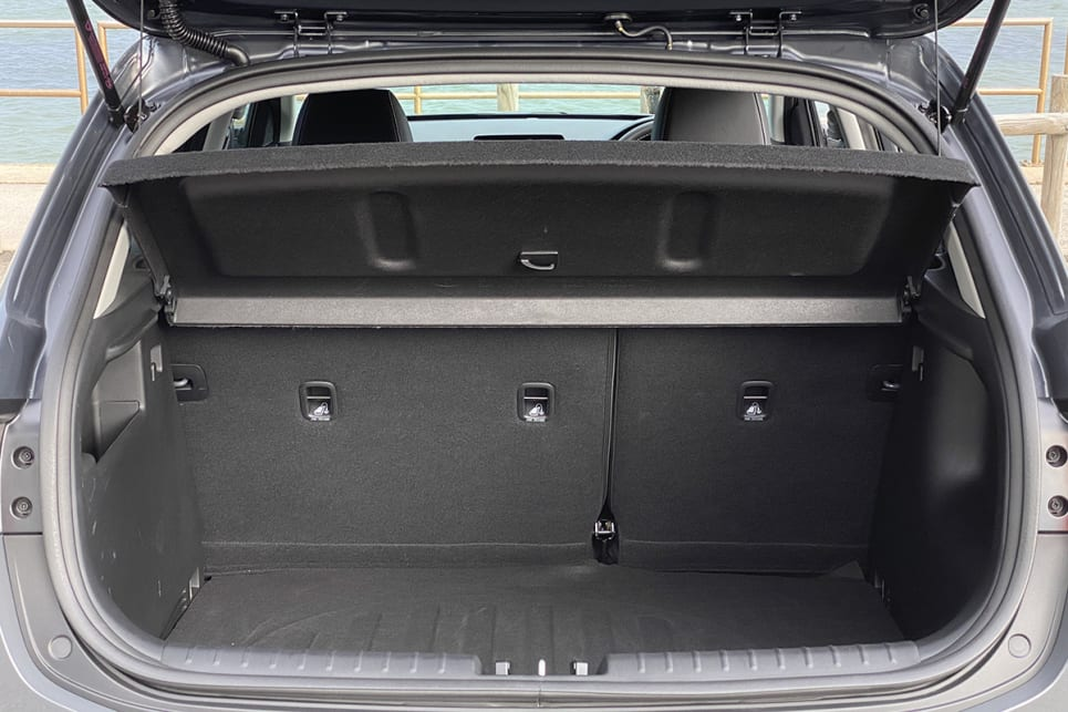 With the rear seats in place, boot space is rated at 352 litres (VDA).