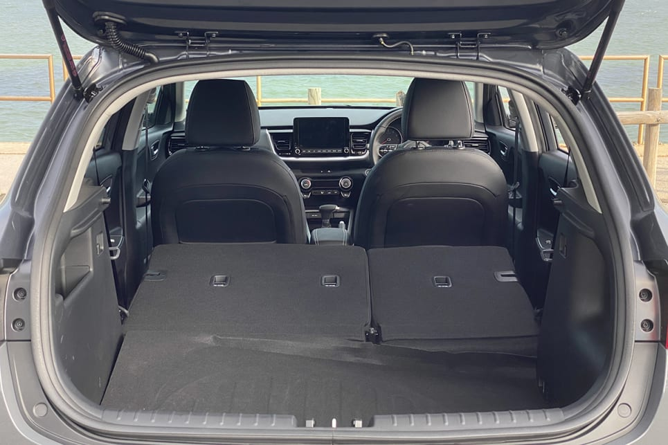 Fold the seats flat and cargo capacity grows to 1155 litres.