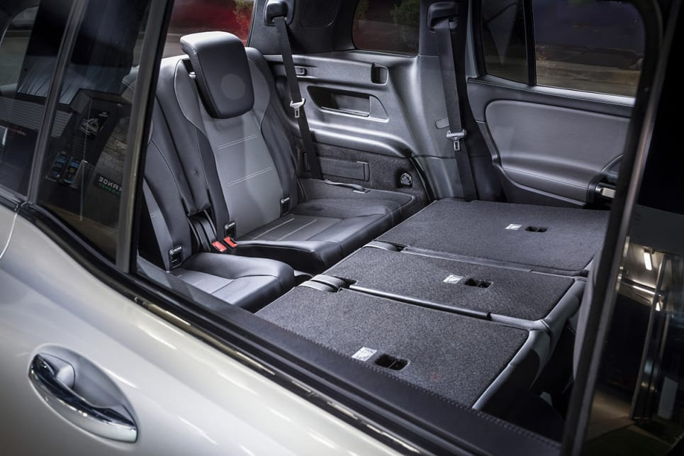 Mercedes-Benz says the third row can accommodate passengers up to 168cm tall.