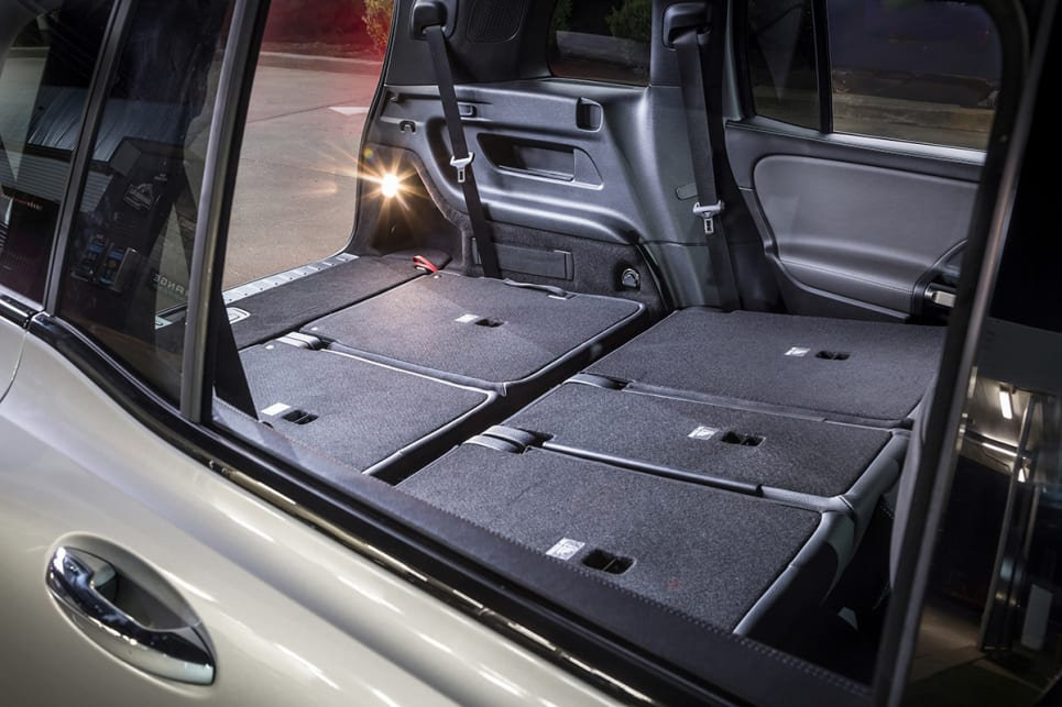 Cargo capacity with all the seats folded flat is 1800L VDA.