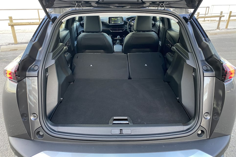 Fold the rear seats flat and cargo capacity grows to 1467 litres.