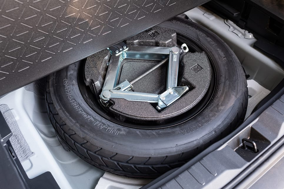 Underneath the boot floor is a space saver spare. (image credit: Rob Cameriere)
