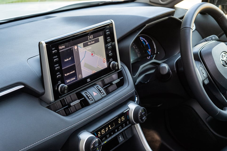 The RAV4 has a 8.0-inch multimedia unit. (image credit: Rob Cameriere)