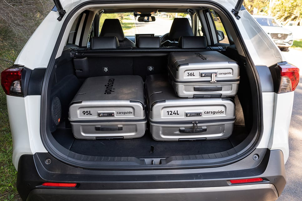The RAV4 managed to fit all the luggage with room to spare. (image credit: Rob Cameriere)