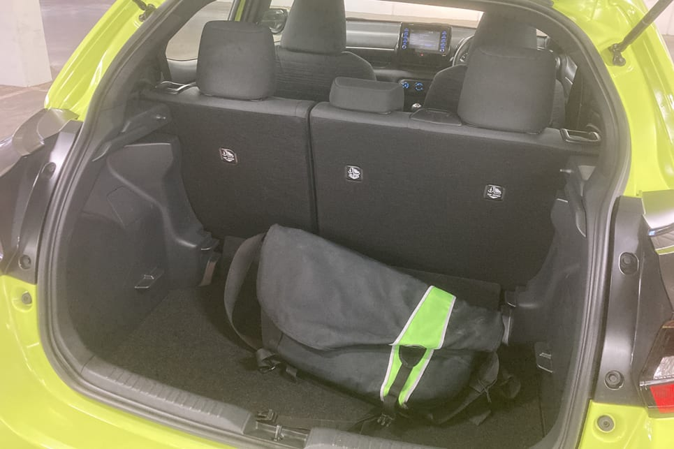 Boot space is rated at 270L (VDA) with the rear seats up.