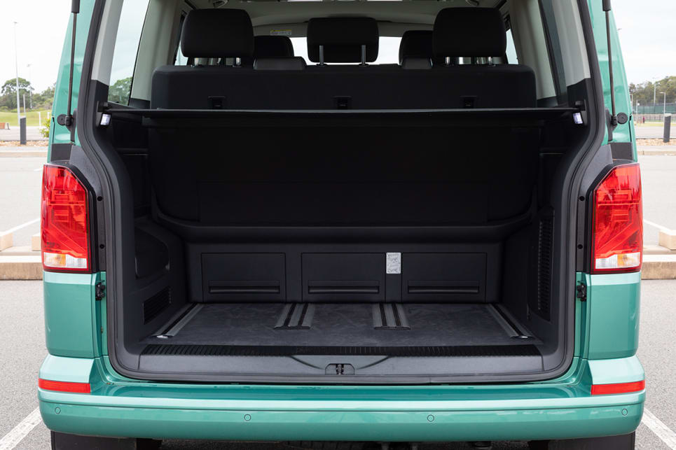 The boot space is customisable, so it can be smaller when the third row is pushed all the way to the back.