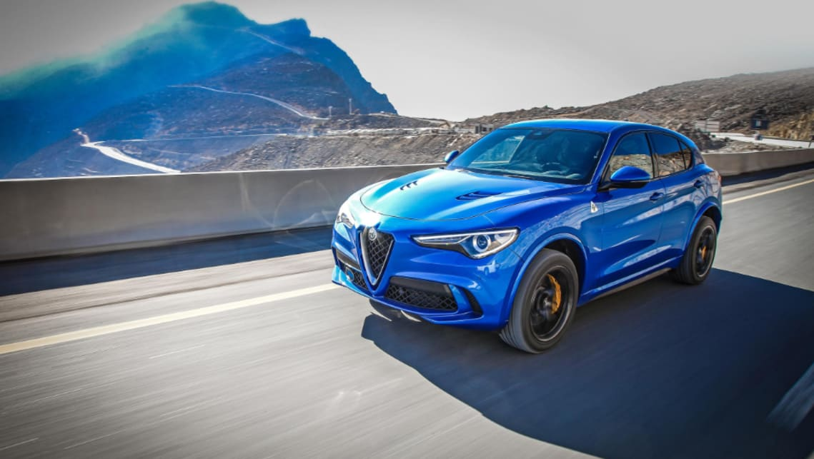 The Stelvio Quadrifoglio will complete the 0-100km/h in just 3.8 seconds and hit a flying top speed of 283km/h.