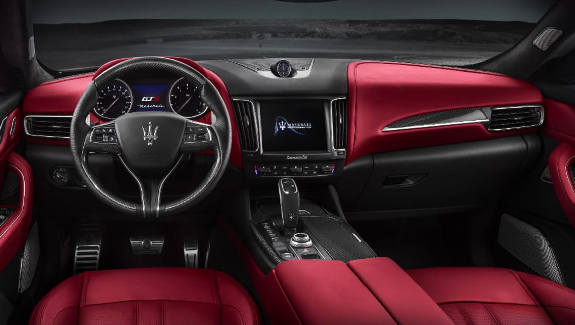 Inside, expect leather trim, sports pedals and a 14-speaker Harman Kardon stereo.