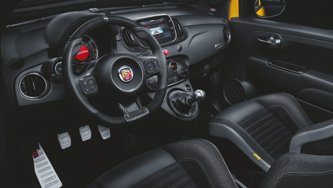 The Competizione is available with a mechanical self-locking differential, as well as Sabelt sport seats.
