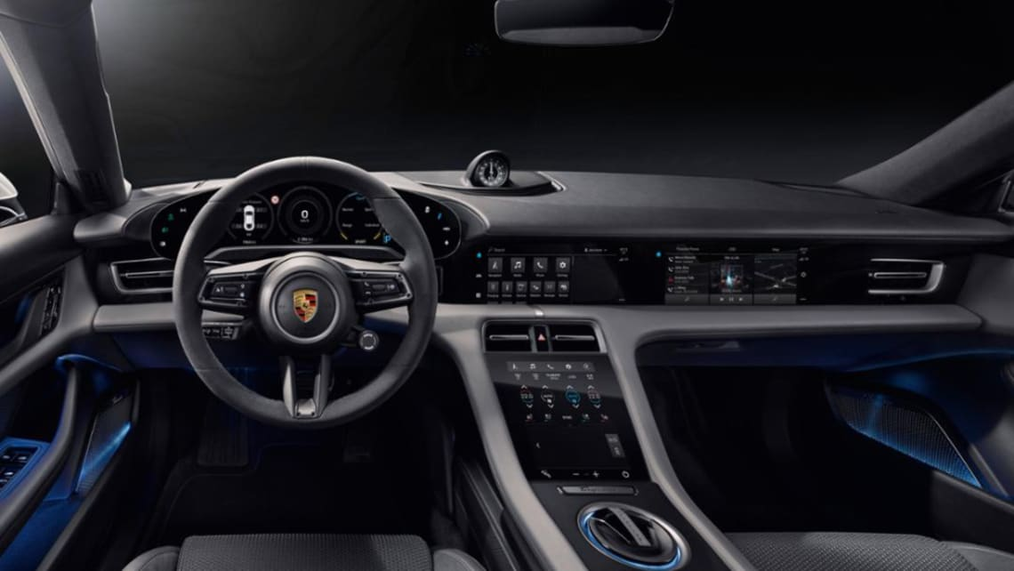 Bye-bye buttons as Porsche Taycan's tech-heavy interior revealed