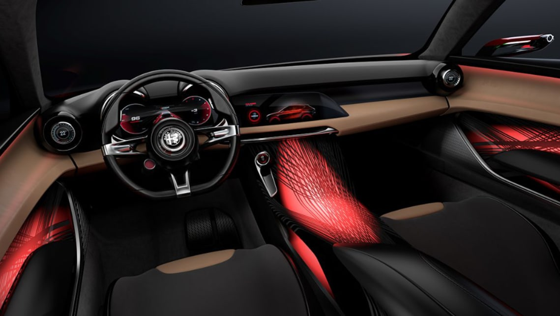 Inside, there's a leather-wrapped and driver-focused cabin is headlined by its 12.3-inch digital binnacle.