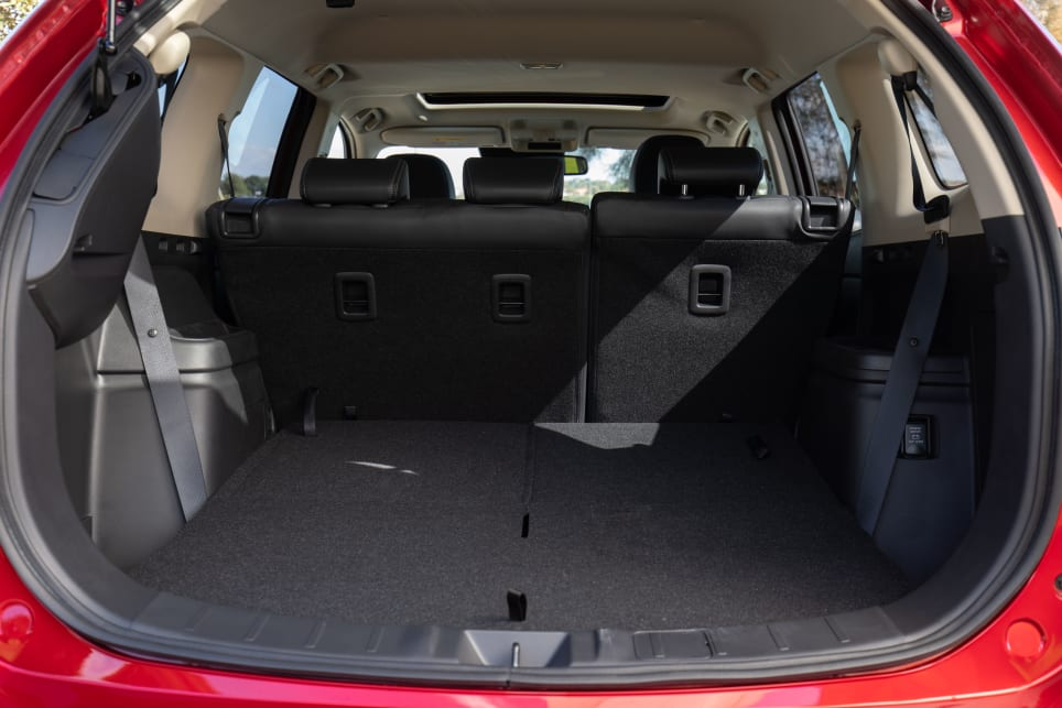 With the back row down, the boot opens up nicely, but it's not the largest in this category. Still, you'll easily get a double pram in the boot or sporting equipment and at 477L it's enough for a family of four.