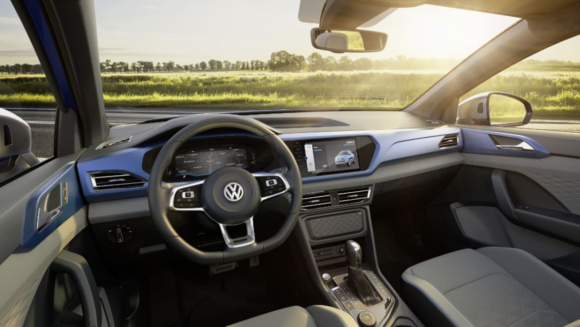 "Inside, VW is promising ""a new way forward"", with digital-heavy layout."