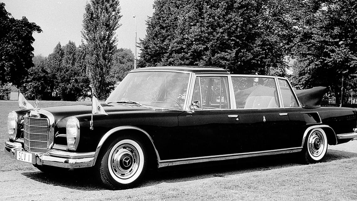 The 600 Pullman landaulet is one of many 'Popemobiles'.