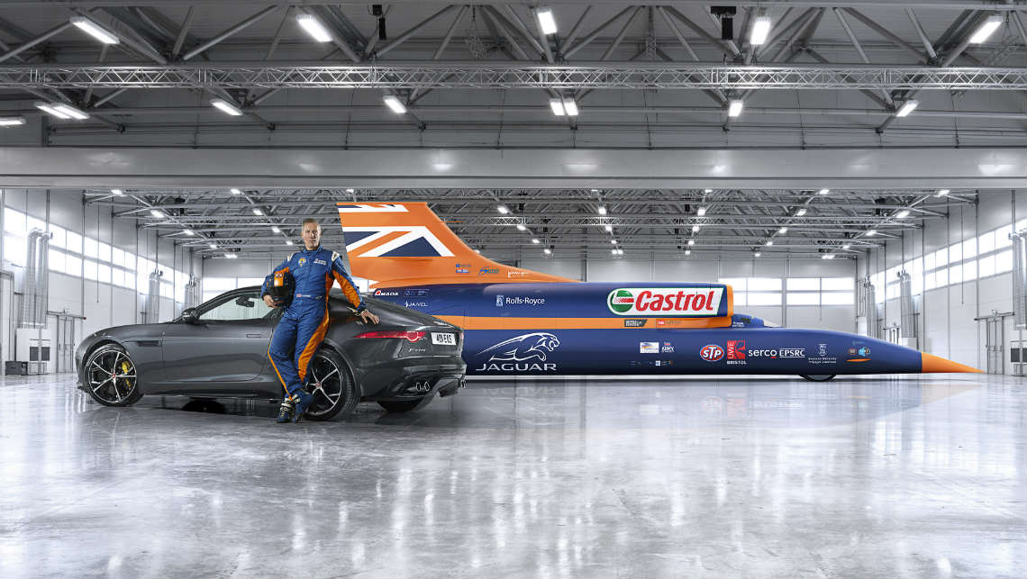 Jaguar F-Type AWD R Coupe and Bloodhound SSC