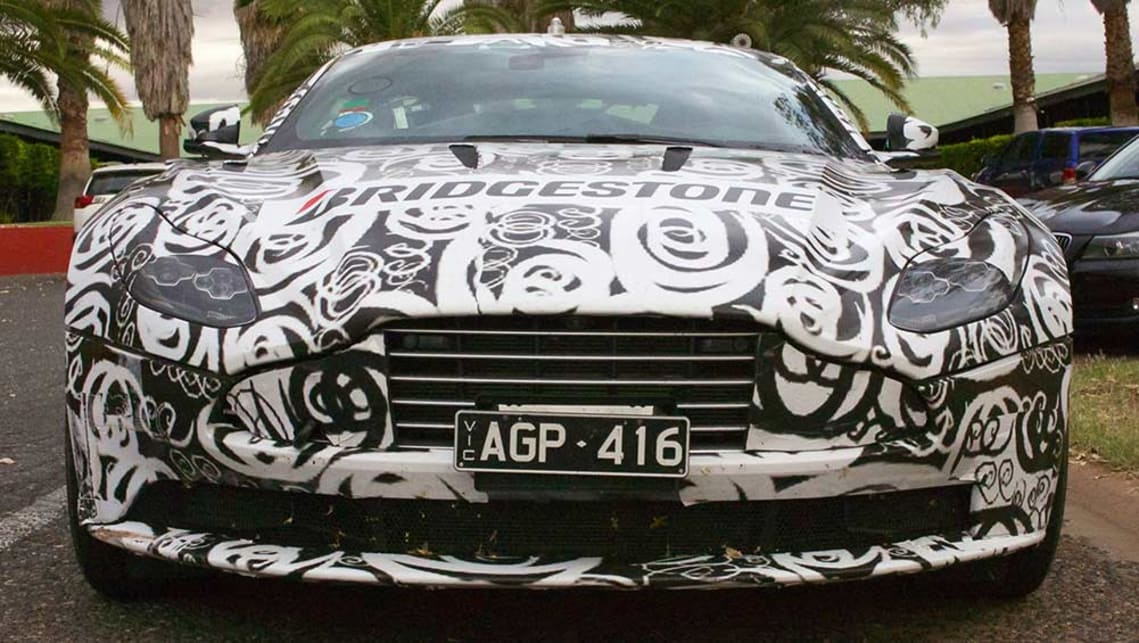 Disguised Aston Martin DB11 seen testing in the Northern Territory