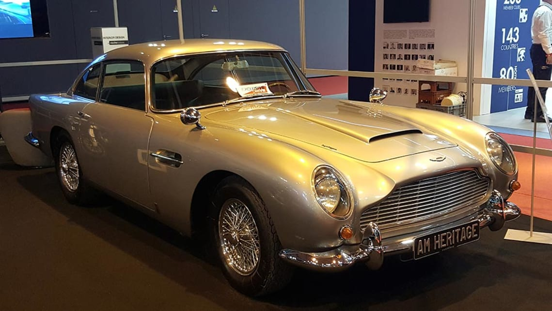 Aston DB5 looking a million dollars, and worth it.
