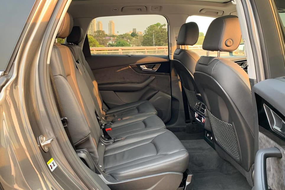 The Q7 has one of the roomiest seven-seat SUV cabins in this part of the market.