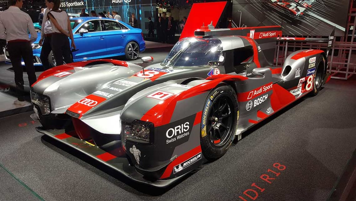This Audi R18 WEC racer came third in the 2016 Le Mans 24hr.