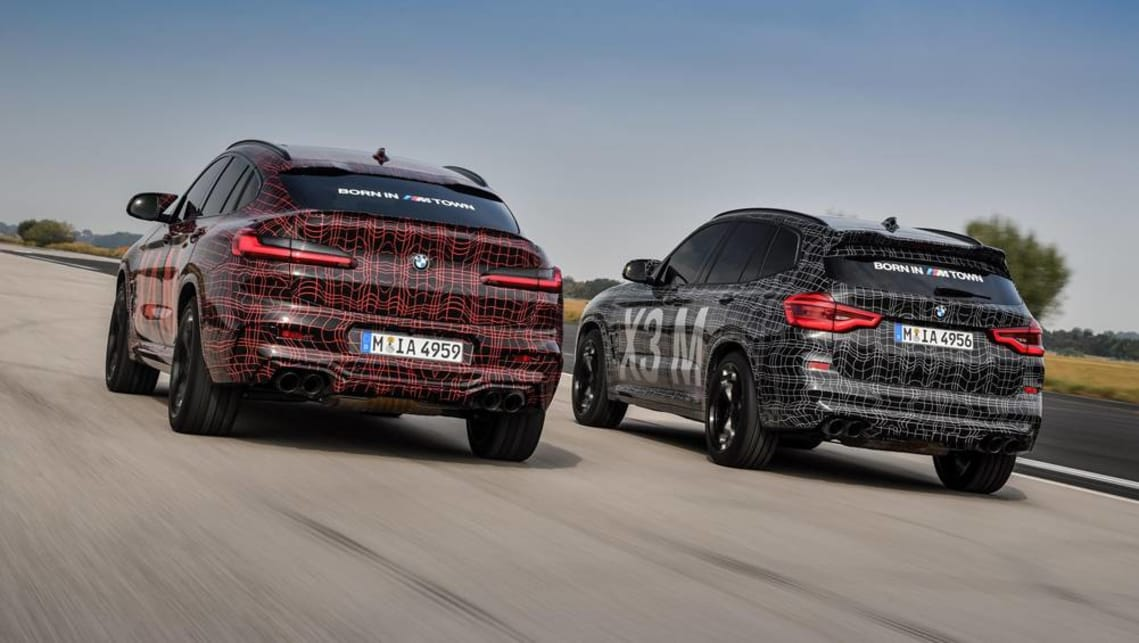 BMW Group has outed its new M-fettled X3 and X4 performance SUVs, showing camouflaged prototype versions at a recent race meeting at Germany's Nurburgring circuit.