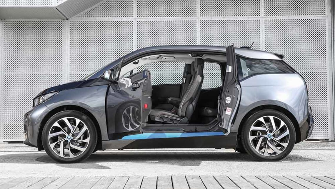 2016 BMW i3 94Ah (pure electric vehicle shown). Australian images.