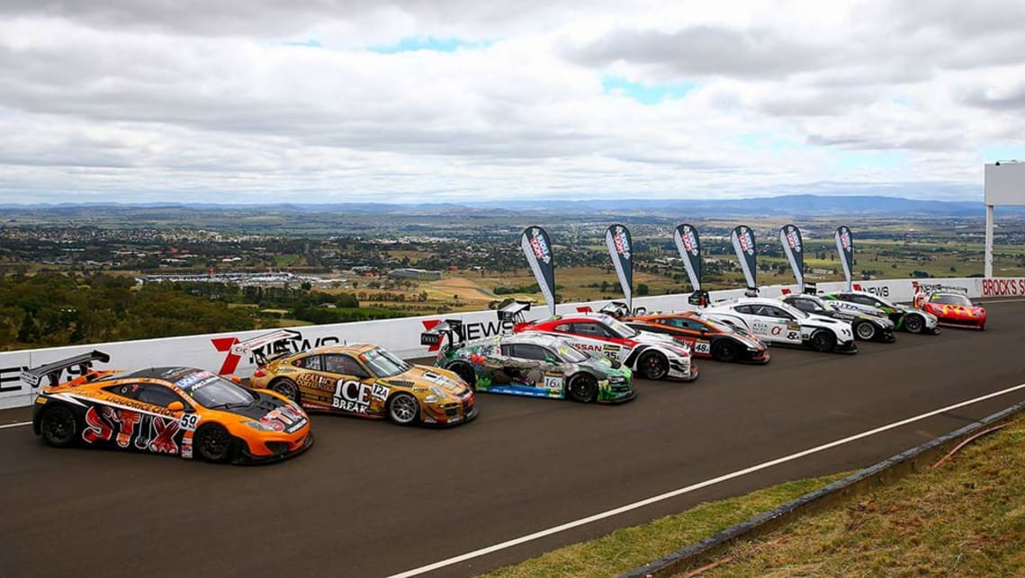 The GT3 field lines up ahead of the 2016 Bathurst 12 Hour