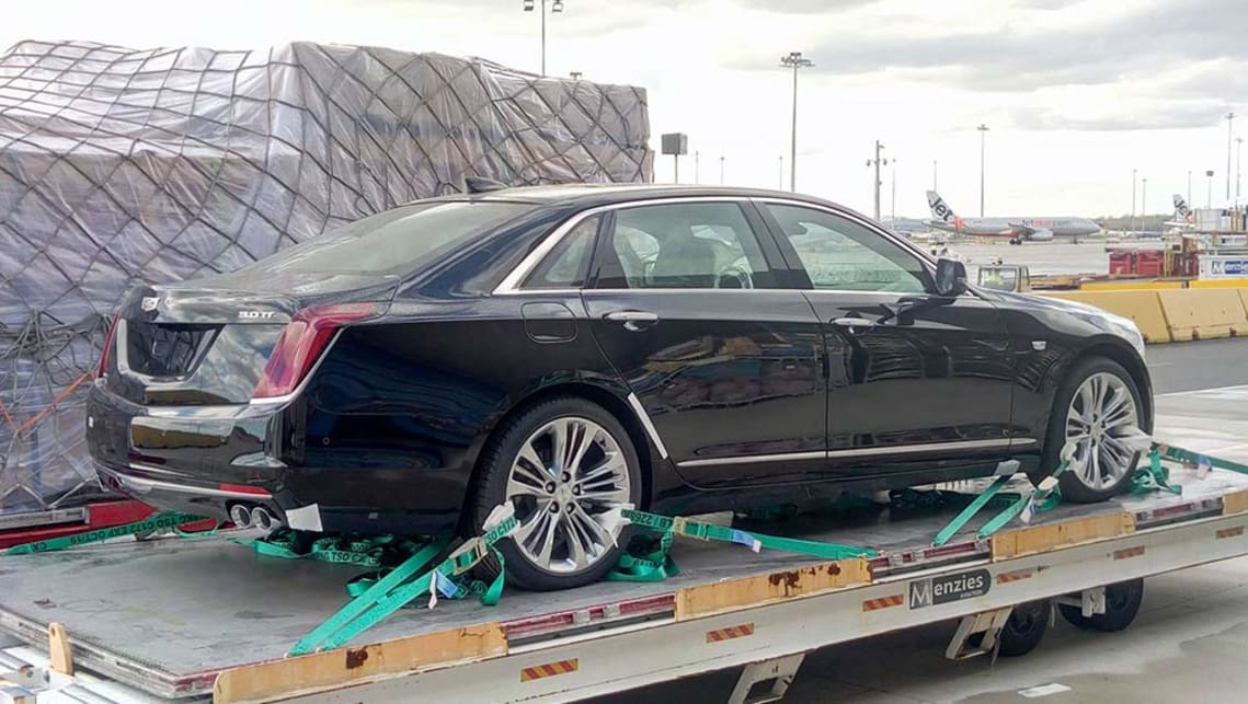 The top of the range 3.0-litre twin-turbo AWD CT6 Platinum was spotted on the tarmac at Tullamarine this week.