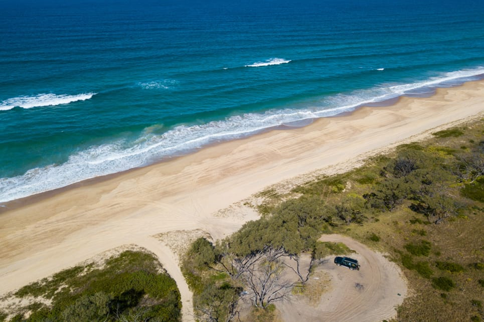 Nearly all of the beaches in NSW Mid-North Coast can be driven on between towns, creating a very long off-road route for the more adventurous. (image credit: Brendan Batty)