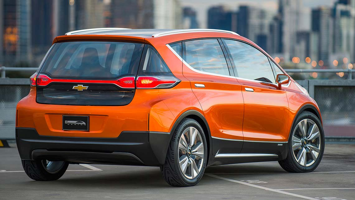 The Chevrolet Bolt concept unveiled at Detroit motor show 2015.