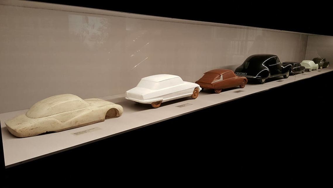 Scale models used to refine the shape of the Citroen DS during its development.
