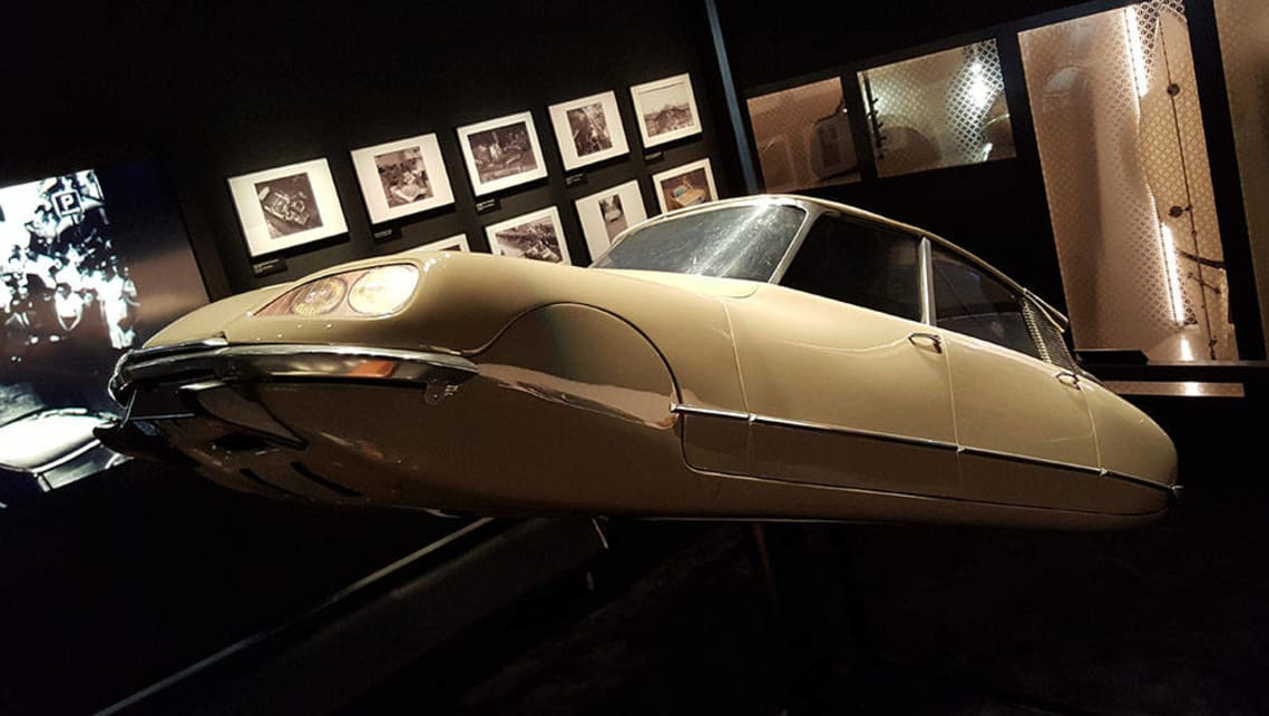 A flat-bottomed Citroen DS scale model. Citroen built a full-scale version as well, which is on display in the Le Mans museum. Can you identify their purpose?