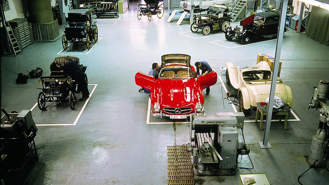 The Classic workshop focuses on customer and museum vehicles.