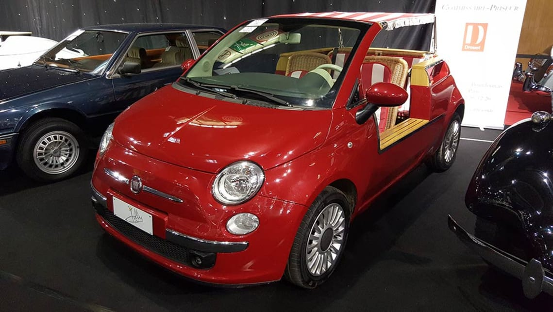 A Jollycar reincarnation of the classic Fiat 500 Jolly. We can't imagine it would be easy to register.
