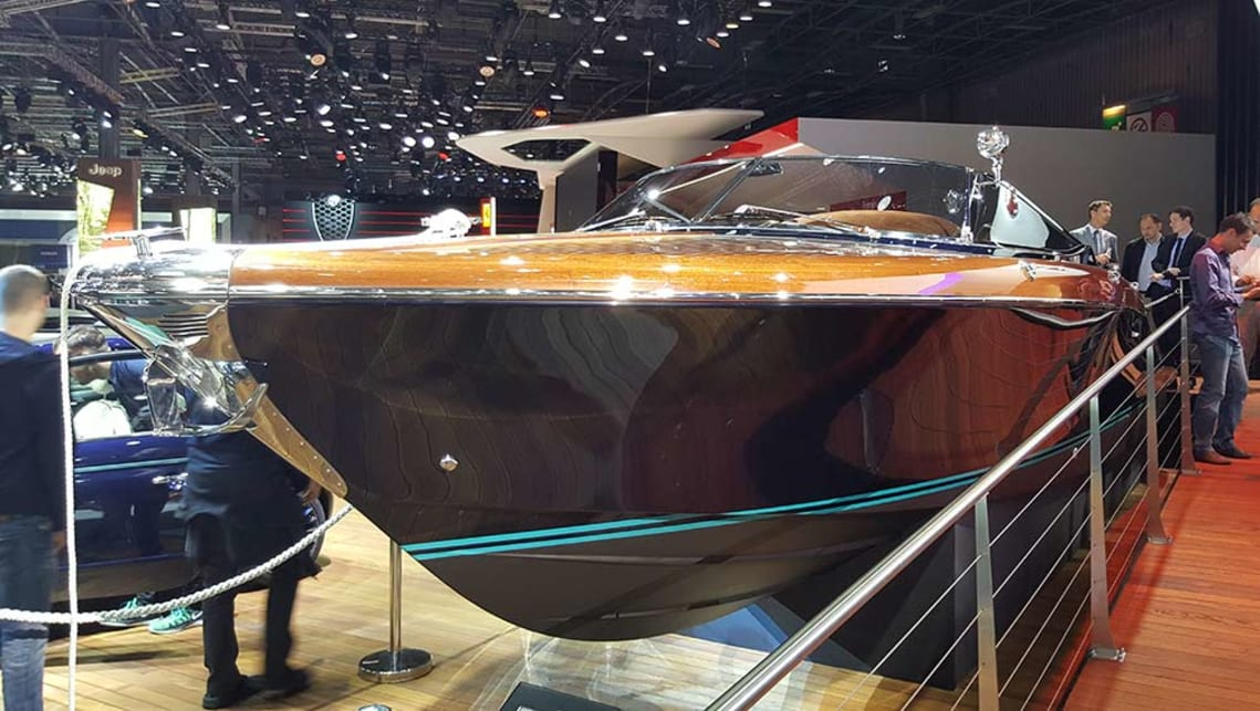 Riva Aquarama speedboat on the Fiat stand.