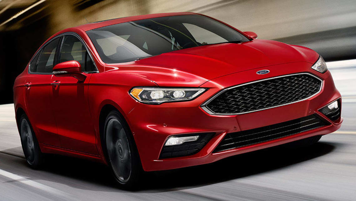 The Ford Fusion V6 Sport unveiled at the Detroit motor show.