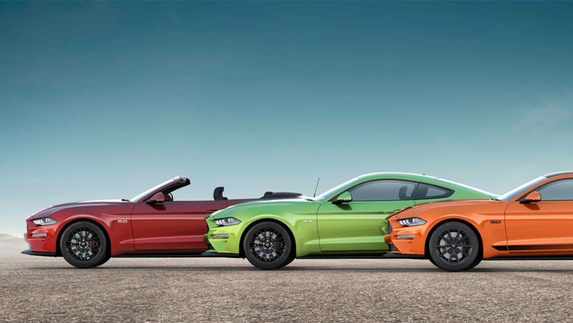 The new paints will likely be priced in line with the Mustang's premium paint option at $650.
