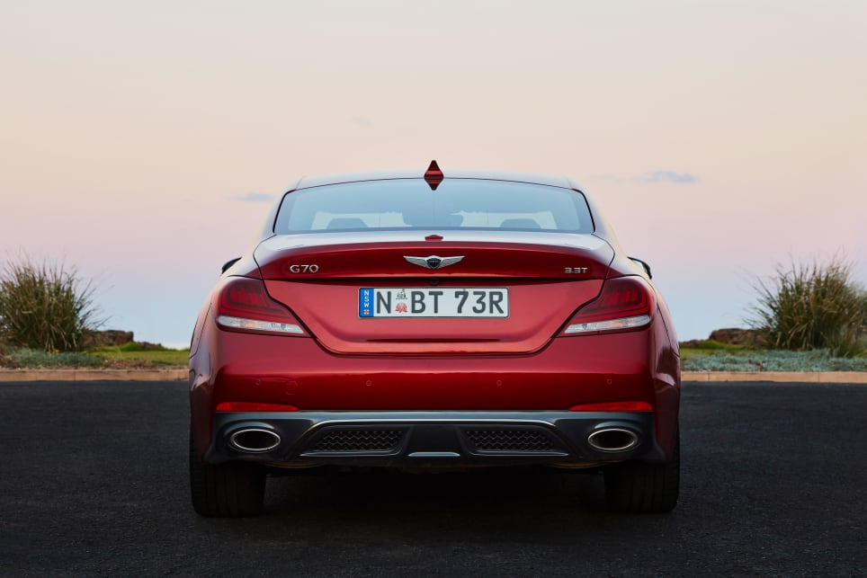 The rear and rear three-quarter views are the easiest on the eye.
