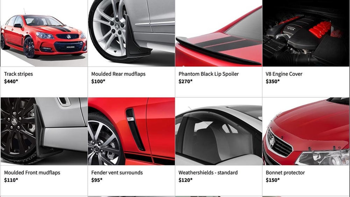 2016 Holden Commodore accessories