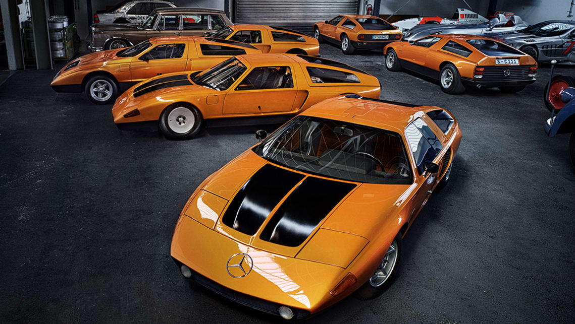 Merc has kept all 14 of its mid-engined C111 experimental coupes.