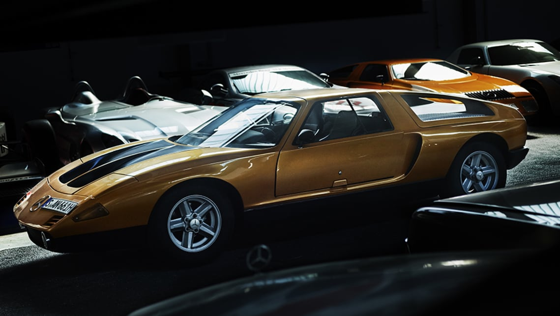 Several of the C111 coupes are just sitting in the halls.