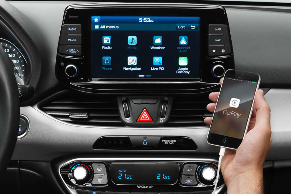Hyundai i30 Apple CarPlay interface