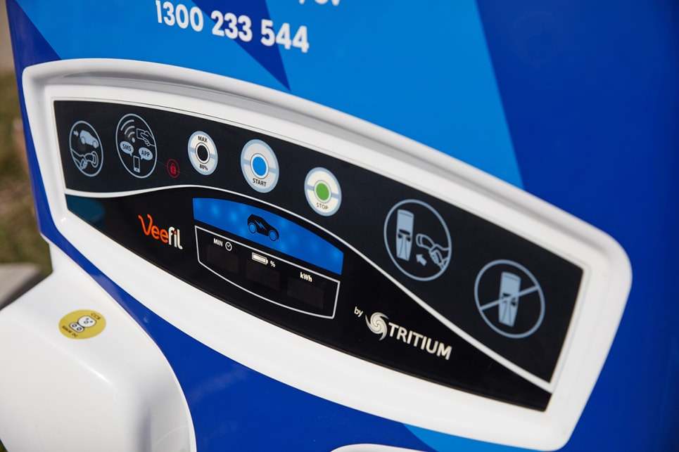 Officially, the combined electric driving efficiency is 131 Wh/km (watts x hours / km).