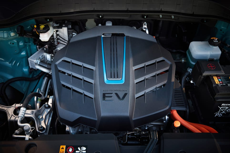 The motor makes 150kW of power and 395Nm of torque – that's a lot of grunt for a small SUV.