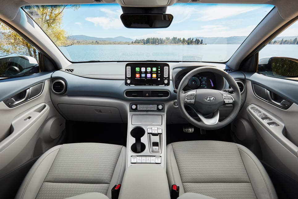 It has a 'floating' metallic centre console that's high and really separates the driver and front passenger like a wall.