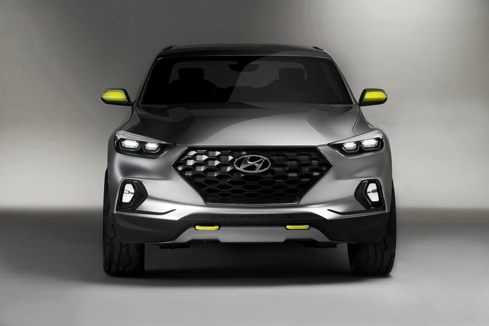 "Hyundai HQ instead prioritised the Santa Cruz ""urban pickup"" utility for North American market instead."