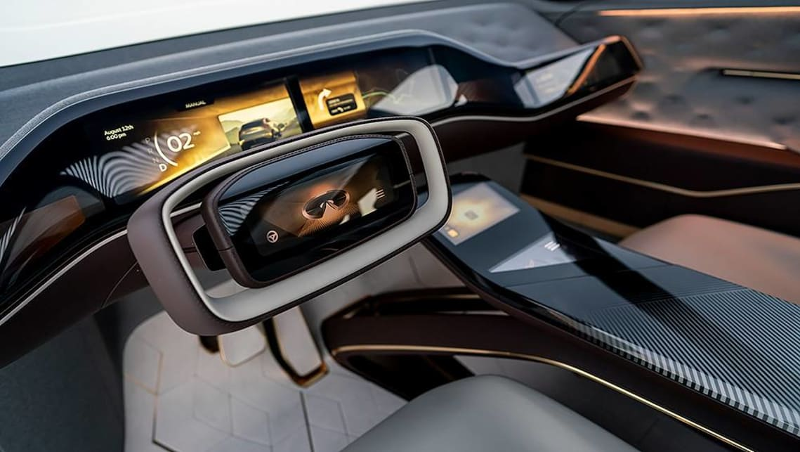 Cameras will replace conventional wing mirrors and the interior hosts large colour displays.