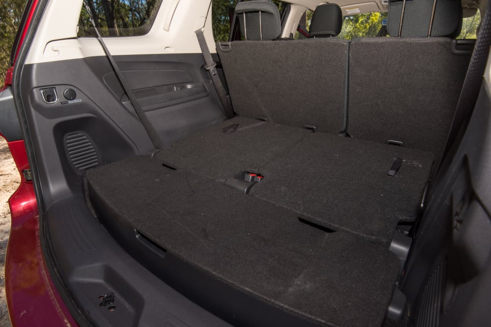 Isuzu boot space with extra seating down.