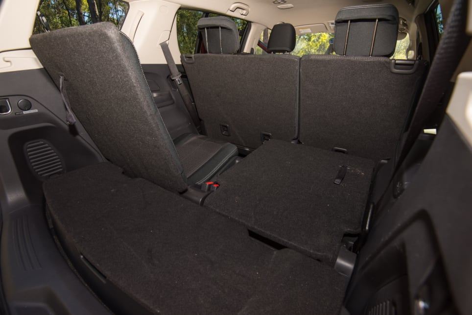 Isuzu boot space with extra seating up.