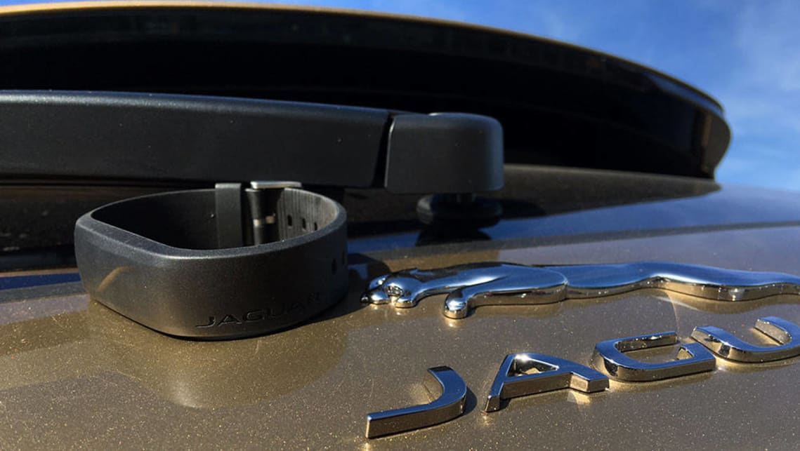 The 2016 Jaguar F-Pace comes with a wristband sensor key as an exclusive option.